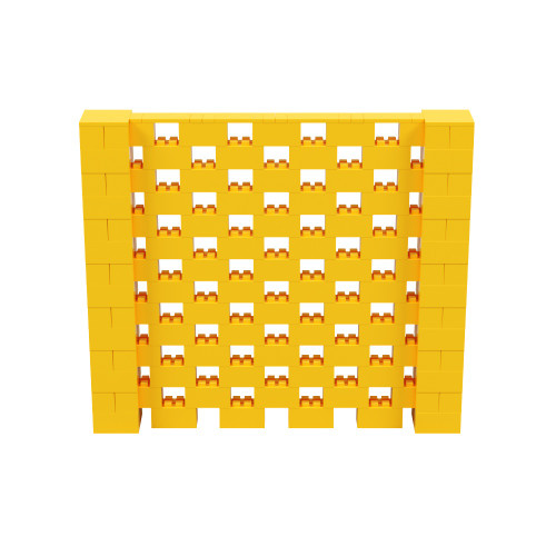 8' x 7' Yellow Open Stagger Block Wall Kit