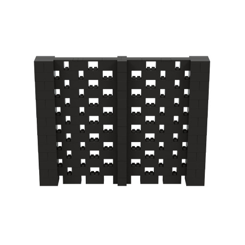 9' x 7' Black Open Stagger Block Wall Kit