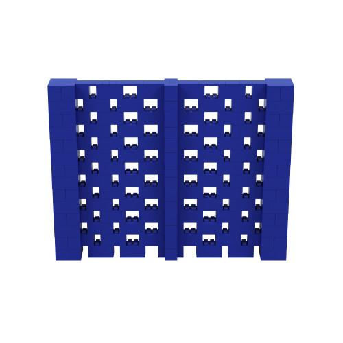 9' x 7' Blue Open Stagger Block Wall Kit