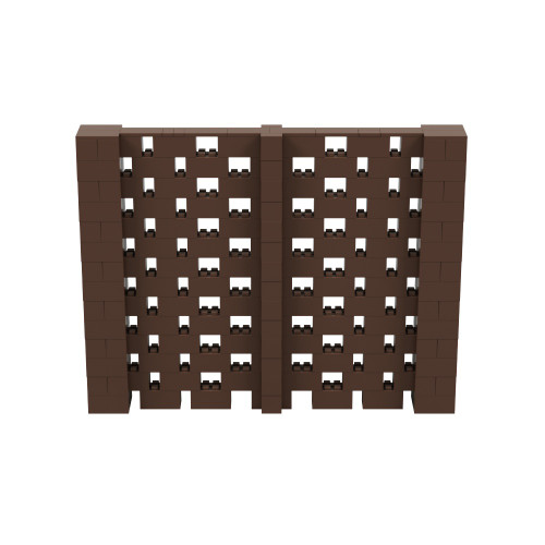 9' x 7' Brown Open Stagger Block Wall Kit