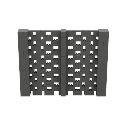9' x 7' Dark Gray Open Stagger Block Wall Kit