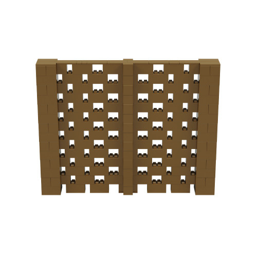 9' x 7' Gold Open Stagger Block Wall Kit
