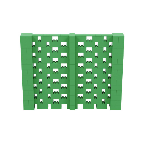 9' x 7' Green Open Stagger Block Wall Kit
