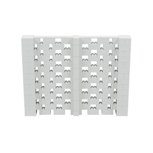 9' x 7' Light Gray Open Stagger Block Wall Kit