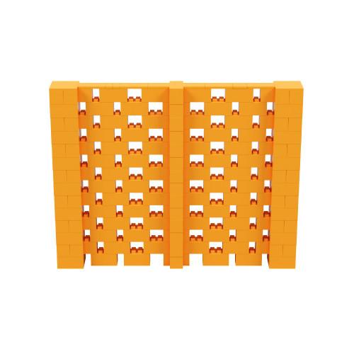 9' x 7' Orange Open Stagger Block Wall Kit