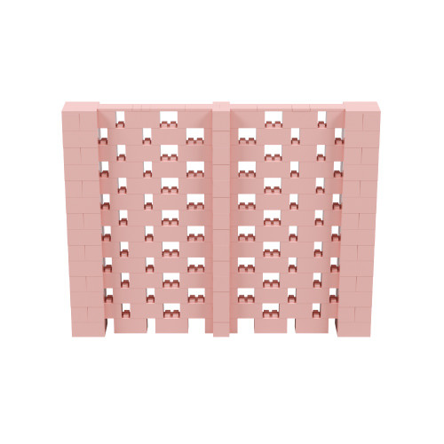 9' x 7' Pink Open Stagger Block Wall Kit