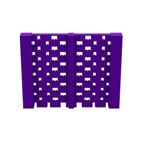 9' x 7' Purple Open Stagger Block Wall Kit