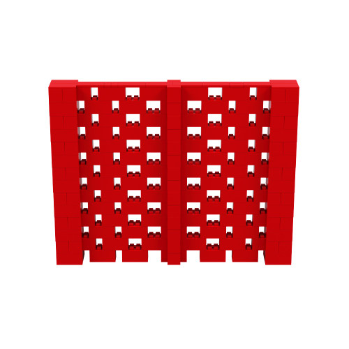 9' x 7' Red Open Stagger Block Wall Kit