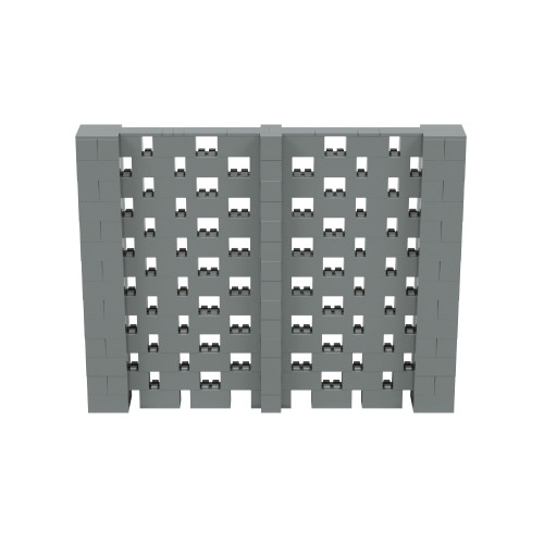 9' x 7' Silver Open Stagger Block Wall Kit