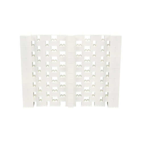 9' x 7' Translucent Open Stagger Block Wall Kit