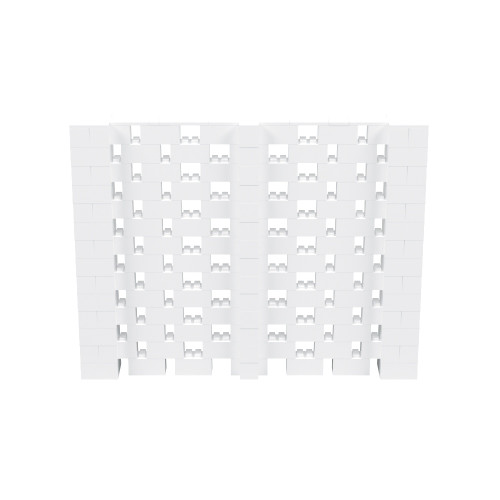 9' x 7' White Open Stagger Block Wall Kit