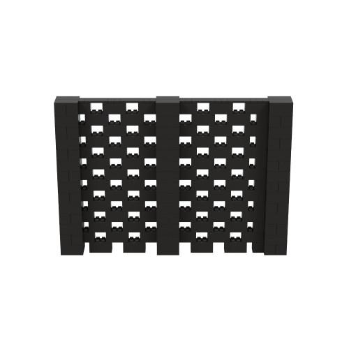 10' x 7' Black Open Stagger Block Wall Kit
