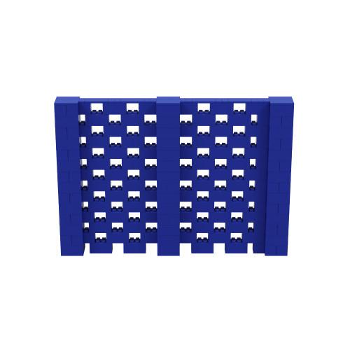 10' x 7' Blue Open Stagger Block Wall Kit