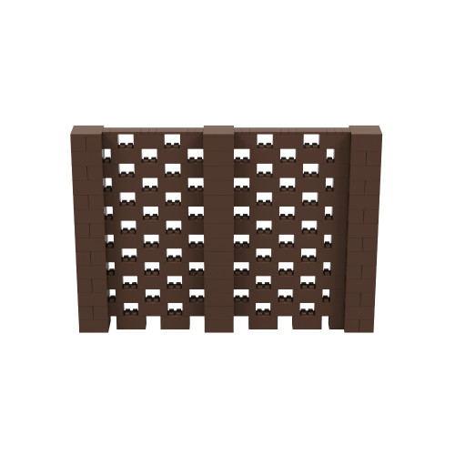10' x 7' Brown Open Stagger Block Wall Kit