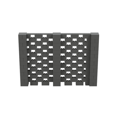 10' x 7' Dark Gray Open Stagger Block Wall Kit