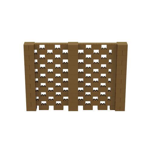 10' x 7' Gold Open Stagger Block Wall Kit