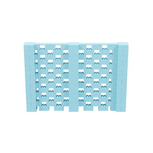 10' x 7' Light Blue Open Stagger Block Wall Kit