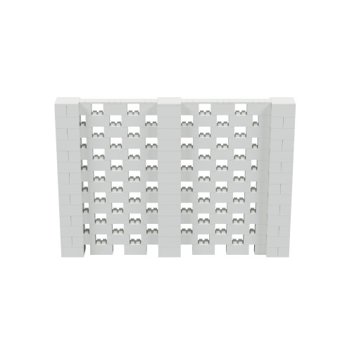 10' x 7' Light Gray Open Stagger Block Wall Kit