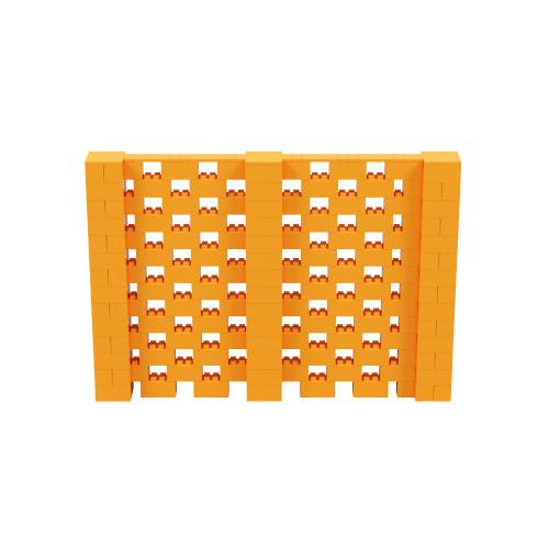 10' x 7' Orange Open Stagger Block Wall Kit