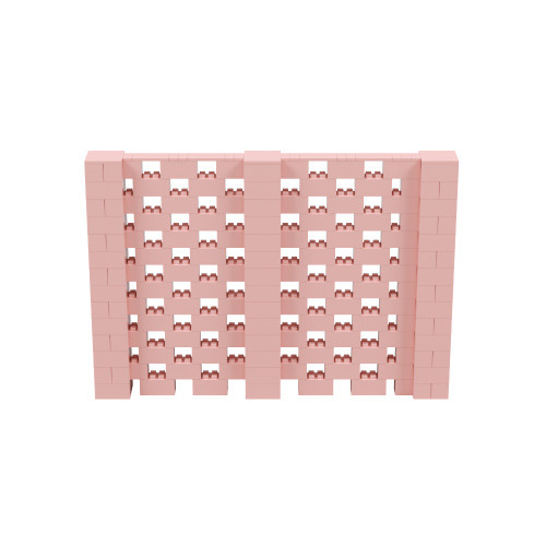 10' x 7' Pink Open Stagger Block Wall Kit