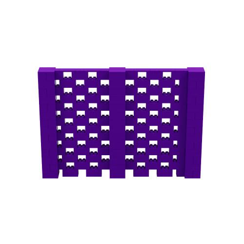 10' x 7' Purple Open Stagger Block Wall Kit