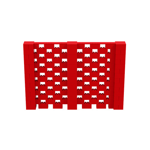 10' x 7' Red Open Stagger Block Wall Kit