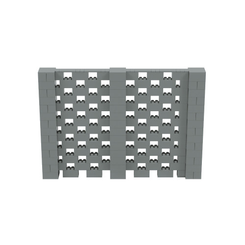 10' x 7' Silver Open Stagger Block Wall Kit
