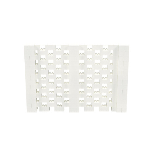 10' x 7' Translucent Open Stagger Block Wall Kit