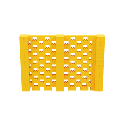 10' x 7' Yellow Open Stagger Block Wall Kit