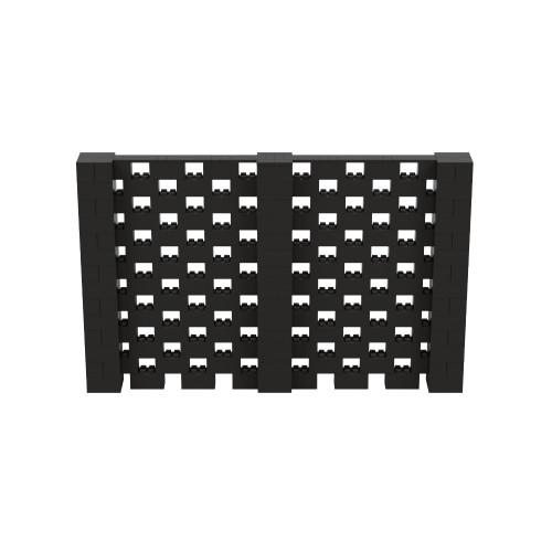 11' x 7' Black Open Stagger Block Wall Kit