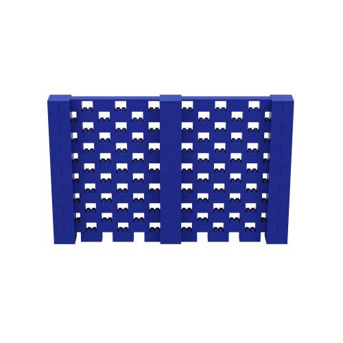 11' x 7' Blue Open Stagger Block Wall Kit