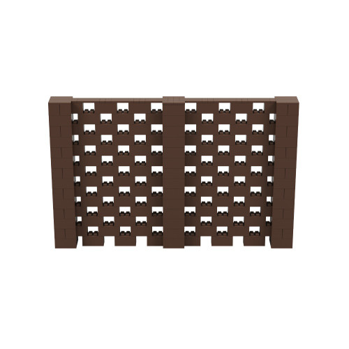 11' x 7' Brown Open Stagger Block Wall Kit