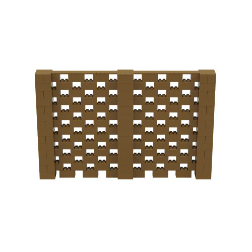 11' x 7' Gold Open Stagger Block Wall Kit