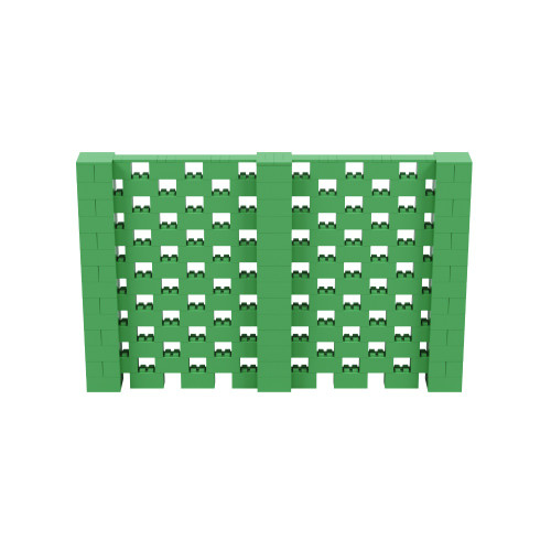 11' x 7' Green Open Stagger Block Wall Kit