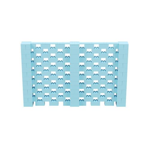 11' x 7' Light Blue Open Stagger Block Wall Kit