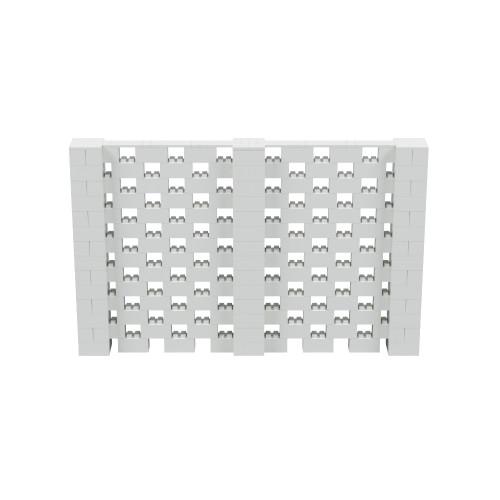 11' x 7' Light Gray Open Stagger Block Wall Kit
