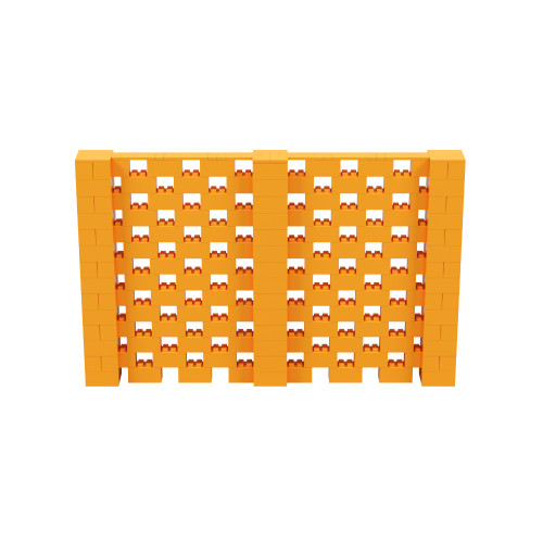 11' x 7' Orange Open Stagger Block Wall Kit