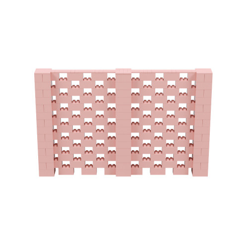11' x 7' Pink Open Stagger Block Wall Kit