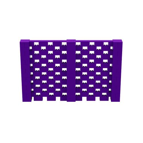 11' x 7' Purple Open Stagger Block Wall Kit
