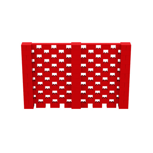 11' x 7' Red Open Stagger Block Wall Kit