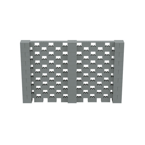 11' x 7' Silver Open Stagger Block Wall Kit
