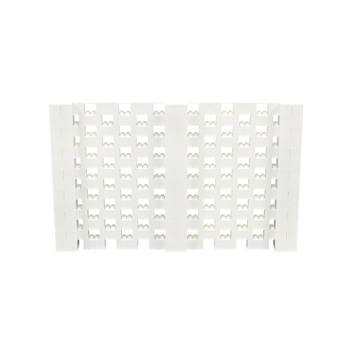 11' x 7' Translucent Open Stagger Block Wall Kit