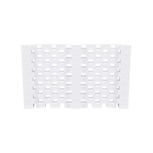 11' x 7' White Open Stagger Block Wall Kit