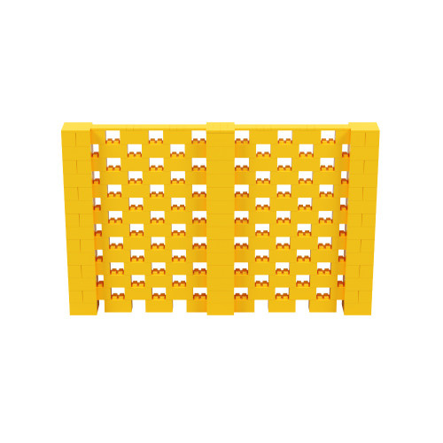 11' x 7' Yellow Open Stagger Block Wall Kit