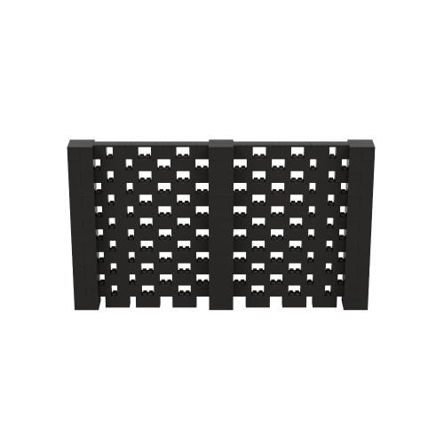 12' x 7' Black Open Stagger Block Wall Kit