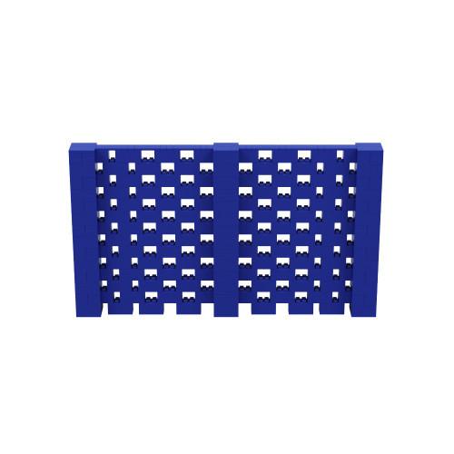 12' x 7' Blue Open Stagger Block Wall Kit