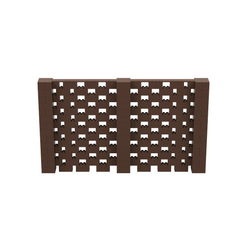 12' x 7' Brown Open Stagger Block Wall Kit