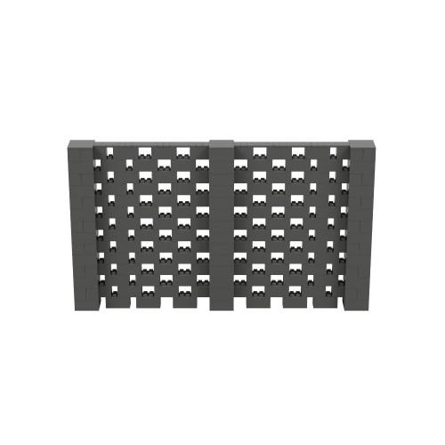 12' x 7' Dark Gray Open Stagger Block Wall Kit