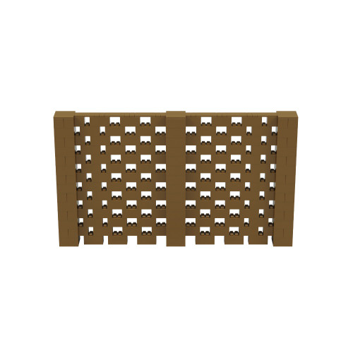 12' x 7' Gold Open Stagger Block Wall Kit