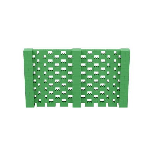 12' x 7' Green Open Stagger Block Wall Kit